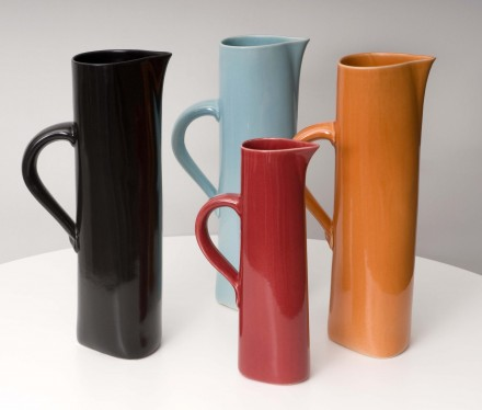Cuba Jugs orange, turquoise green, black, red