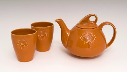 Pohutukawa Teapot and Beakers