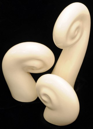 Standing Koru White three