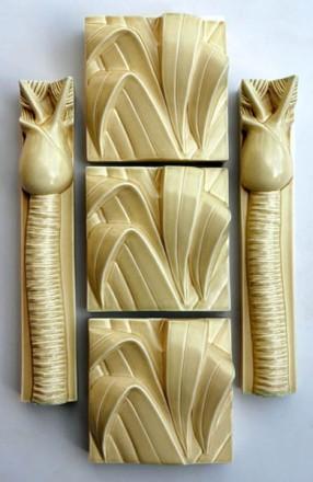 Flax Tips With Nikau Tree Long box suede tan