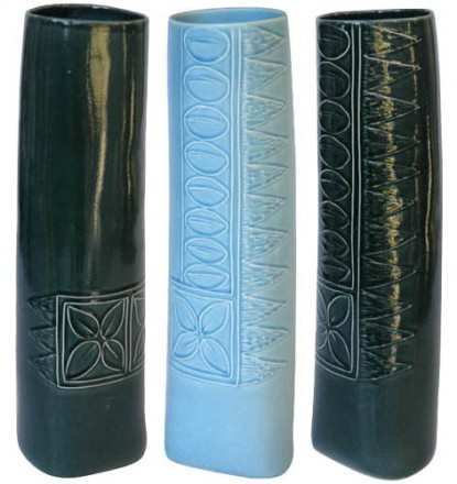 Tapa Vases three