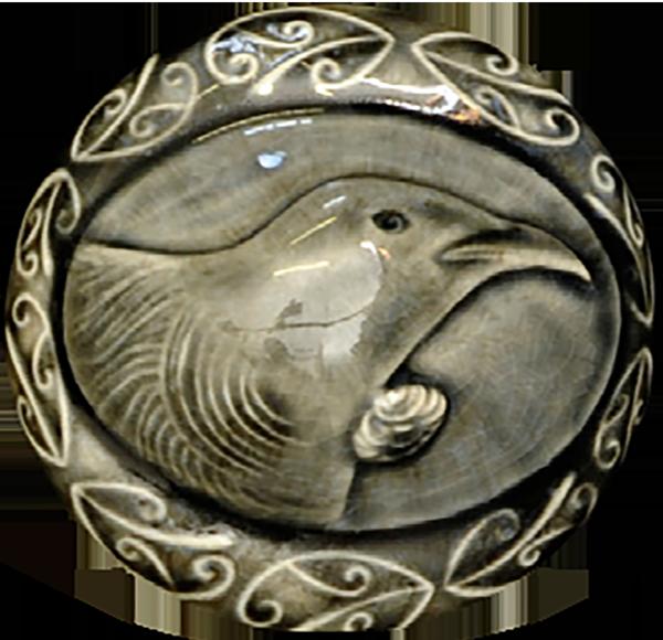 Cameo of New Zealand Tui bird